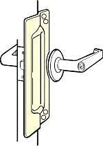 DON-JO MFG INC. Latch Protector; Chrome Plated