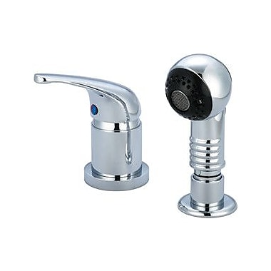 Central Brass Single Handle Shampoo Faucet w/ Pull Out Spray