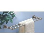 Gatco Channel Double 24'' Wall Mounted Towel Bar; Satin Nickel