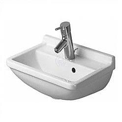 Duravit Starck 3 Ceramic 40'' Wall Mount Bathroom Sink w/ Overflow