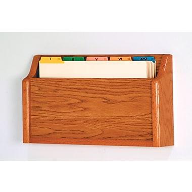 Wooden Mallet Single Pocket Square Bottom Legal Size File Holder; Medium Oak