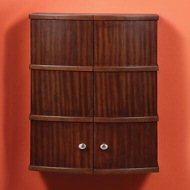 DecoLav Olivia 22'' W x 26'' H Wall Mounted Cabinet; Mahogany