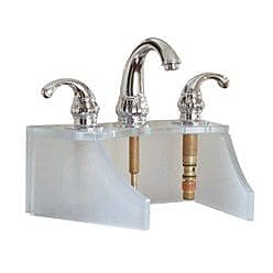DecoLav Drains and Accessories Frosted Glass Faucet Stand; Cobalt