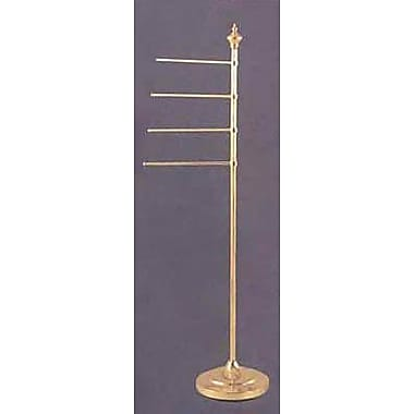 Allied Brass Universal Free Standing Towel Stand; Satin Brass