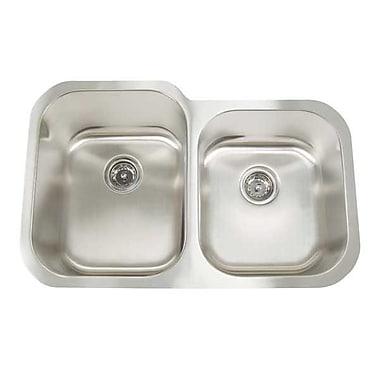 Artisan Sinks Premium Series 31'' x 20'' Double Bowl Undermount Kitchen Sink