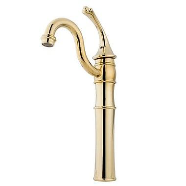 Kingston Brass Georgian Single Handle Vessel Sink Faucet; Polished Brass
