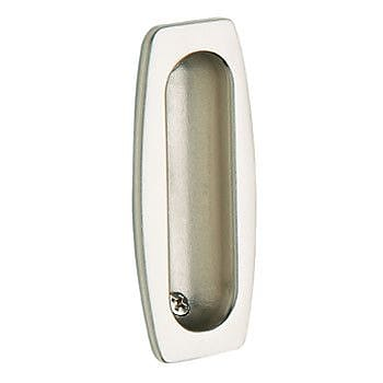 Baldwin Sliding Door Flush Pull; Satin Nickel