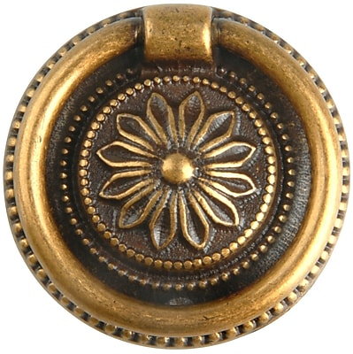 Bosetti-Marella French Antique Ring Pull; Dark Antique Brass