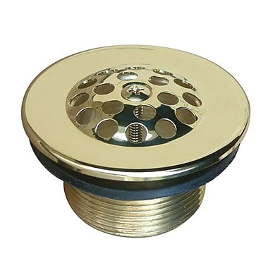Kingston Brass Made to Match 2.88'' Grid Shower Drain; Polished Brass