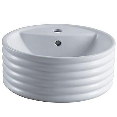 Elements of Design Tower Circular Vessel Bathroom Sink w/ Overflow