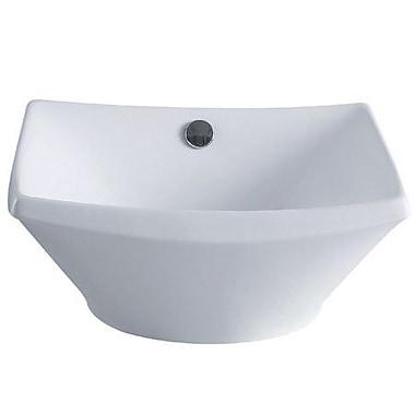 Elements of Design Courtyard Square Vessel Bathroom Sink w/ Overflow