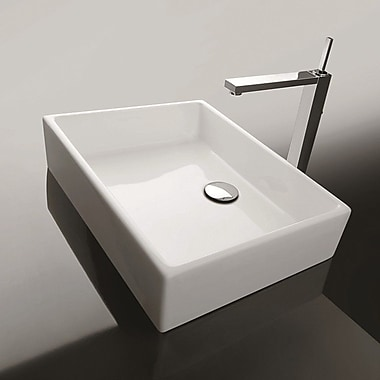 WS Bath Collections Ceramica Unlimited 20'' wall mounted Bathroom Sink w/ Overflow