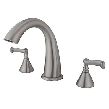 Kingston Brass Roman Double Handle Roman Tub Faucet; Satin Nickel