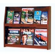 Wooden Mallet 6 Magazine / 12 Brochure Wall Display; Dark Red Mahogany