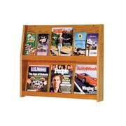 Wooden Mallet 6 Magazine / 12 Brochure Wall Display; Medium Oak