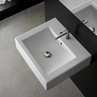 Scarabeo by Nameeks Ceramic 24'' Wall Mount Bathroom Sink w/ Overflow