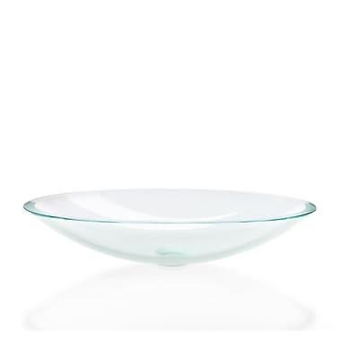 WS Bath Collections Linea Acquaio Circular Vessel Bathroom Sink; Extra Clear