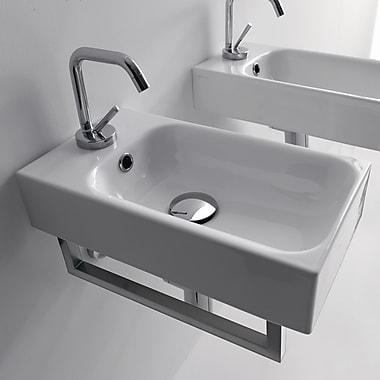 WS Bath Collections Kerasan Cento 9.8'' Wall Mount Bathroom Sink w/ Overflow