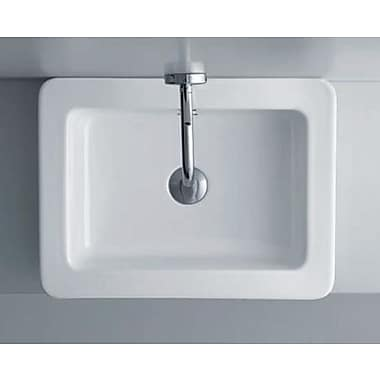 WS Bath Collections Linea Ciuci 14'' Wall Mounted Bathroom Sink