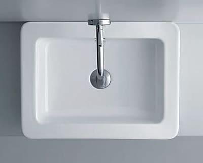 WS Bath Collections Kerasan Ceramic Rectangular Vessel Bathroom Sink w/ Overflow