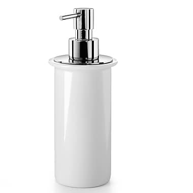WS Bath Collections Saon Soap Dispenser; Polished Chrome / Ceramic White