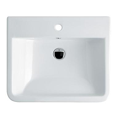 WS Bath Collections Chiante Ceramic Ceramic Rectangular Vessel Bathroom Sink w/ Overflow