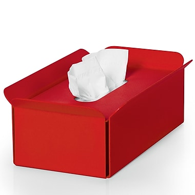 WS Bath Collections Complements Bandoni Free Standing Tissue Box Cover; Red