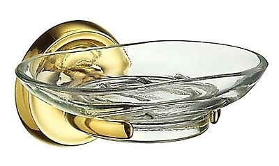 Smedbo Villa Soap Dish; Polished Brass