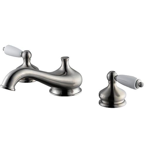 Aqueous Faucet Teabury Double Handle Deck Mount Roman Tub Faucet ...