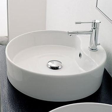 Scarabeo by Nameeks Geo Circular Vessel Bathroom Sink w/ Overflow