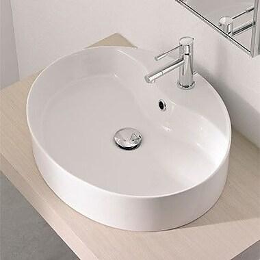 Scarabeo by Nameeks Wind Oval Vessel Bathroom Sink w/ Overflow