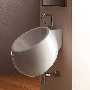 Scarabeo by Nameeks Planet 18'' Wall Mounted Bathroom Sink w/ Overflow