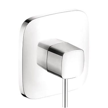 Hansgrohe PuraVida Pressure Balance Faucet Trim w/ Lever Handle; Chrome/White