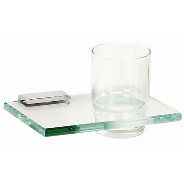 Alno Arch Tumbler and Tumbler Holder; Polished Chrome