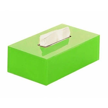 Gedy by Nameeks Rainbow Tissue Box Cover; Green