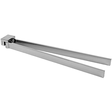 Gedy by Nameeks Lounge Swivel Double 13.9'' Wall Mounted Towel Bar; Chrome