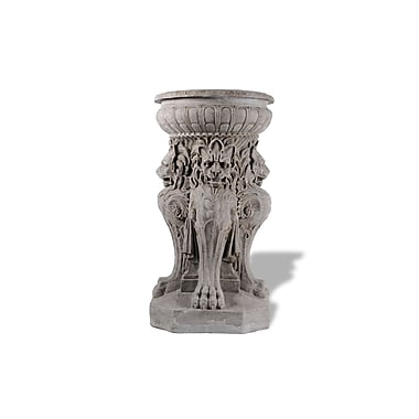 Amedeo Design Victorian Lion Resin Stone Urn Planter; Terra Cotta