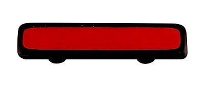 Hot Knobs Borders 3'' Center Bar Pull; Black