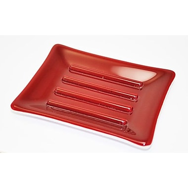Hot Knobs Soap Dish; Red and White