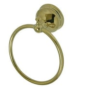 Kingston Brass Naples Wall Mounted Towel Ring; Polished Brass
