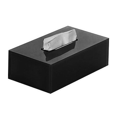 Gedy by Nameeks Rainbow Tissue Box Cover; Black