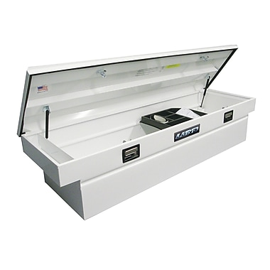 Lund Inc. Gull Wing Cross Bed Truck Tool Box; White