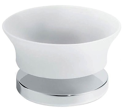 Artos Silaro Vetrilite Free Standing Soap Dish; Brushed Nickel WYF078276477729