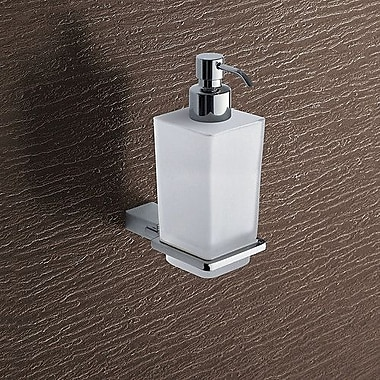 Gedy by Nameeks Kansas Wall Mount Glass Soap Dispenser