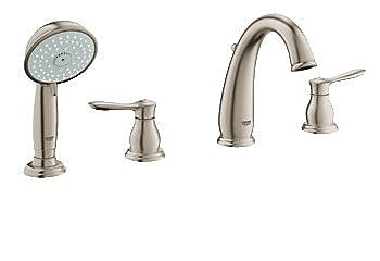Grohe Parkfield Deck Mounted Roman Tub Faucet w/ Handshower; Brushed Nickel