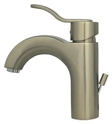 Whitehaus Collection Wavehaus Single Hole Bathroom Faucet with; Brushed Nickel