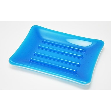 Hot Knobs Soap Dish; Turquoise and White