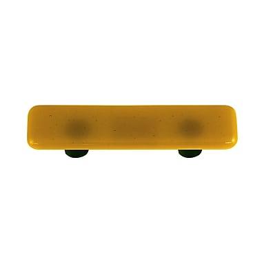 Hot Knobs Solids 3'' Center Bar Pull; Black