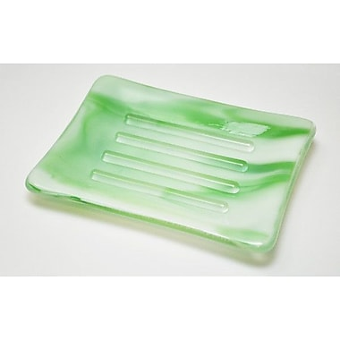 Hot Knobs Swirl Soap Dish; Light Green