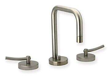 Whitehaus Collection Metrohaus Widespread Bathroom Faucet with; Brushed Nickel